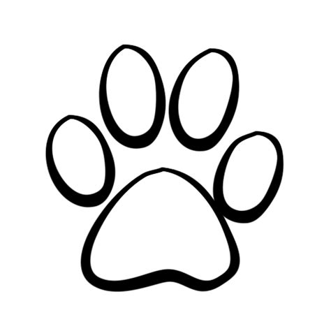 paw print template clipart best