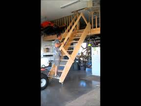 Garages With Lofts rolling garage stairs wmv youtube