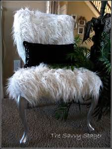furry sofa a couple of furry chairs the savvy stager