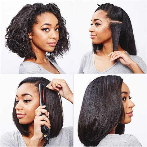 https how to striahten curly hair how to straighten curly hair popsugar beauty
