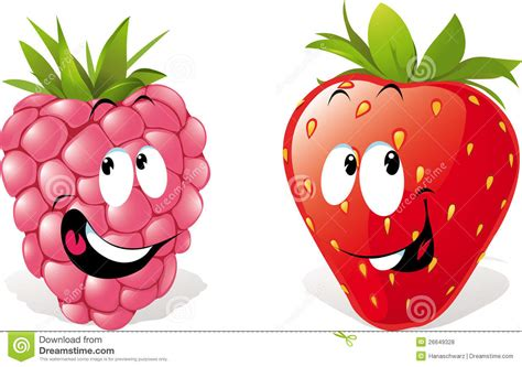 strawberry cartoon strawberry cartoons stock vector illustration