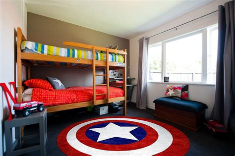 captain america theme room interior design ideas captain america round rug for kids bedroom decorating