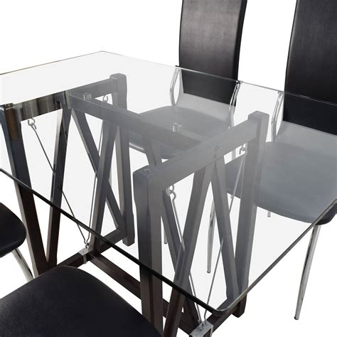 glass dining table and leather chairs 61 glass top dining table and leather chairs tables
