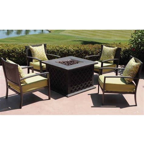 firepit set stefanos firepit set by leisure select