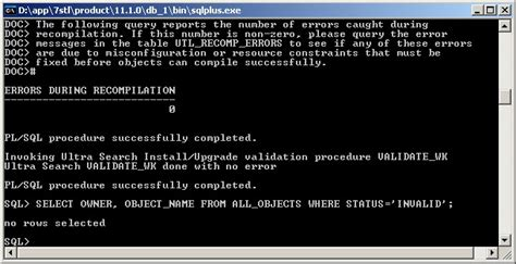 invalid name pattern oracle upgrade rcu schemas to 11 1 1 6 0 in oracle