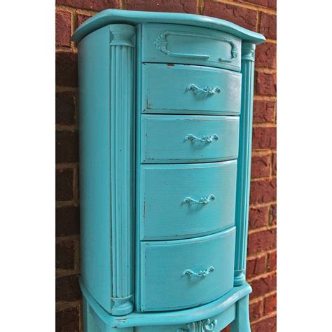 blue jewelry armoire pinterest