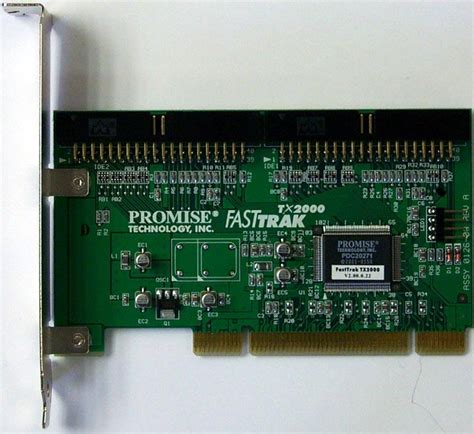 promise fasttrak tx2000 2 channel ultra ata133 raid 010 1