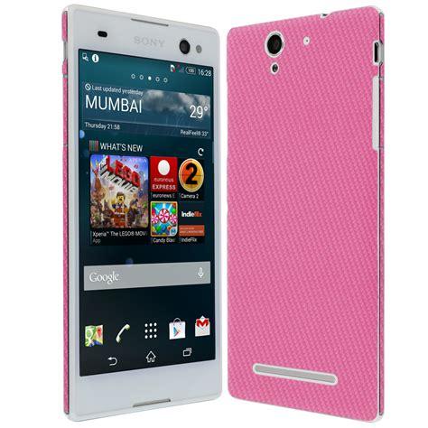Sony Xperia C3 By Anikishop by Skinomi Techskin Sony Xperia C3 Pink Carbon Fiber Skin
