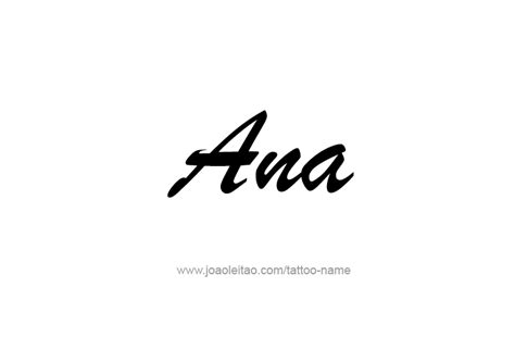ana name tattoo designs