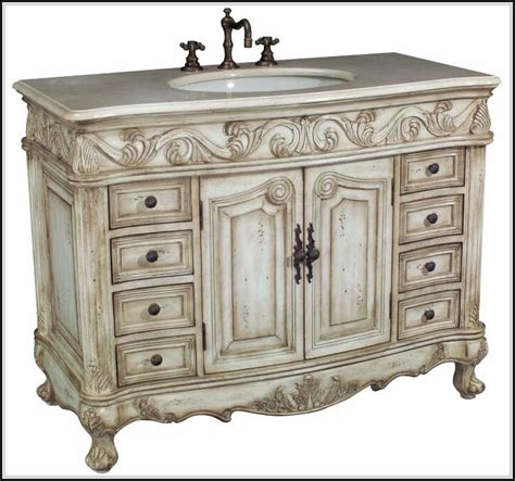 Vintage Bathroom Vanity Cabinet Antique Bathroom Vanities Highly Crafted And Carved Home Design Ideas Plans