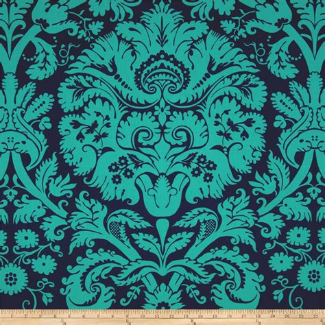 amy butler home decor fabric amy butler belle acanthus teal discount designer fabric fabric com