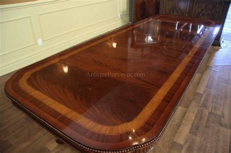 dining table seats 10 narrow regency style inlaid mahogany dining table seats