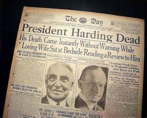 president harding dies in office rarenewspapers