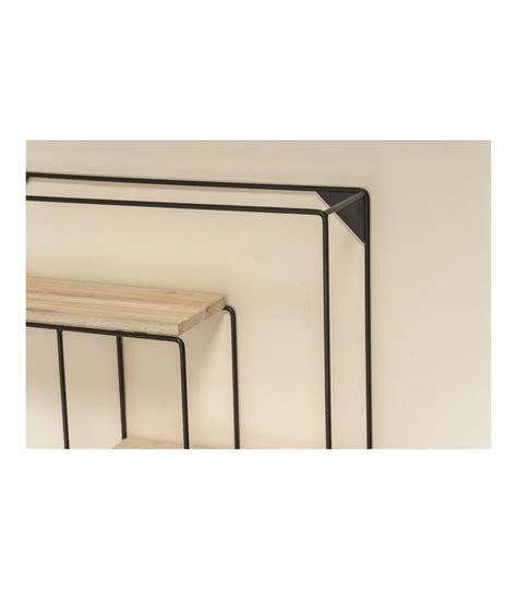 etagere noir et bois 201 tag 232 re murale en m 233 tal noir et bois