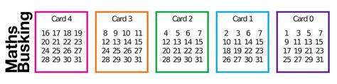 printable magic number cards maths busking
