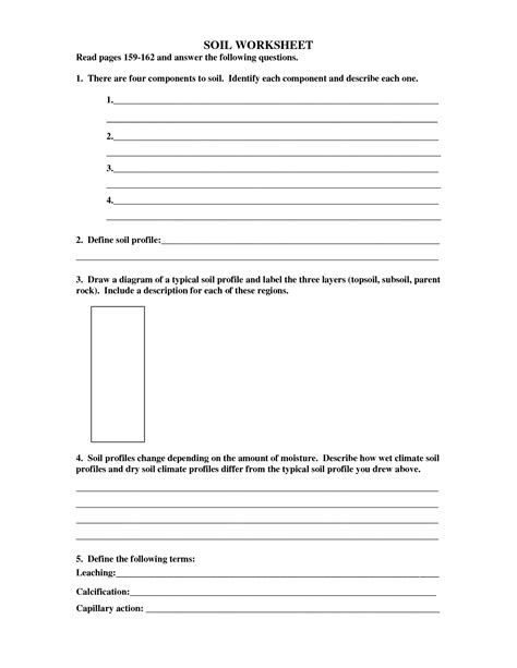 Soil Layers Worksheet