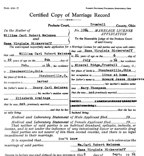 How To Obtain Marriage Records My Ancestors And Me Reviewing Marriage Records