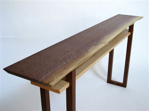 Live Edge Sofa Console Table Narrow Sofa Table Wood Live Edge Sofa Table