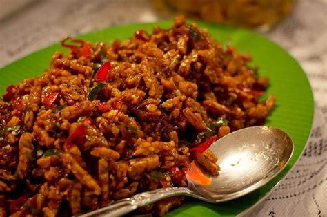 Emping Kalasan Pedas Vegan Vegetarian fried tempeh in spicy sauce kering tempe recipes original recipes