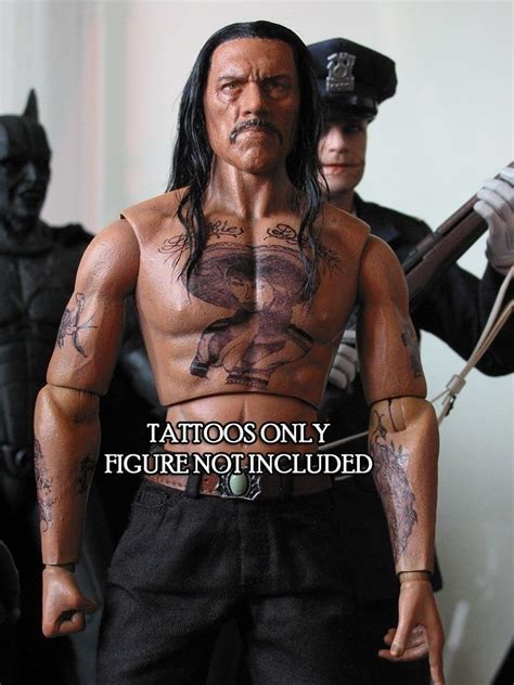 1 6 scale tattoos danny trejo or machete inspired pack
