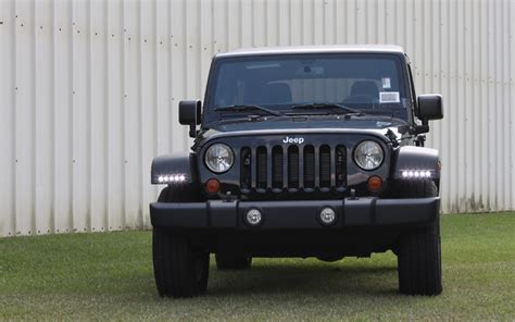jeep wrangler running lights custom led daytime running lights drl by rostra