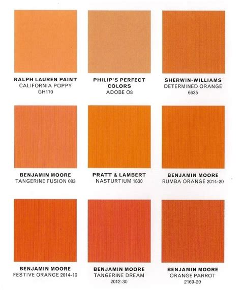 types of orange colors www pixshark images
