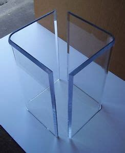 Clear L Base by Acrylic Quot V S Quot Or Boomerang Dining Table Bases 2 Clear