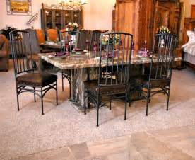 Granite Dining Room Table Dining Furniture Granite Rumah Minimalis