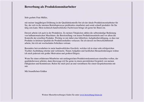 Bewerbung Empfehlung Durch Produktionshelfer Bewerbung Schreiben Produktionshelfer Bewerbungsforum