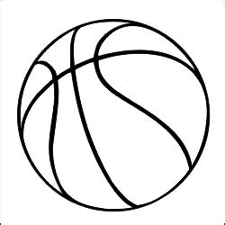 basketball templates basketball outline vector clipart best