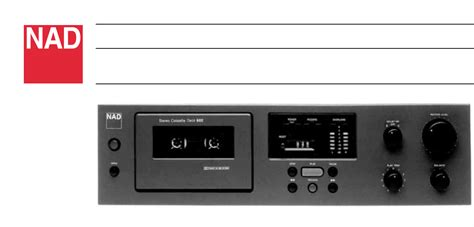 nad cassette deck pin nad electronics international cassette deck product