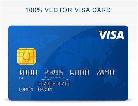 Visa Credit Card Design Template 20 Free Credit Card Mockups