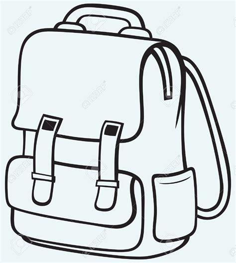 school bag coloring page school bag clipart