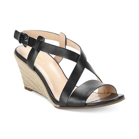 cole haan sandals womens cole haan womens wedge sandals in black lyst