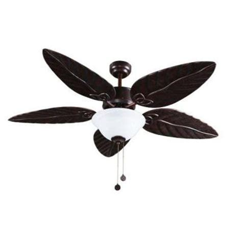 ceiling fan with leaf shaped blades ceiling fans hton bay vallarta 52 in brushed bronze