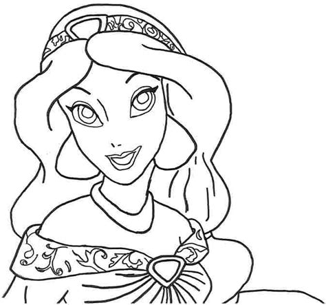 printable coloring pages jasmine 8 best images of printable disney princess jasmine