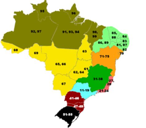 us area code range list of dialling codes in brazil