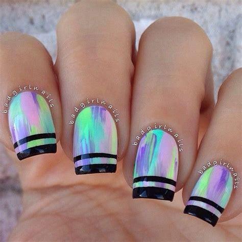 Color Metal Nail 28 striking metallic nail design that you can never