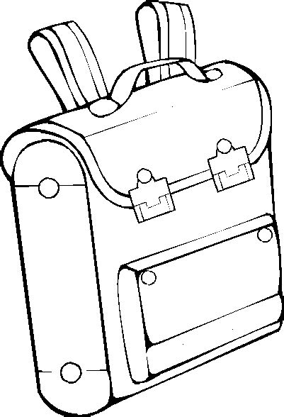 Backpack Coloring Pages Printable Backpack Template
