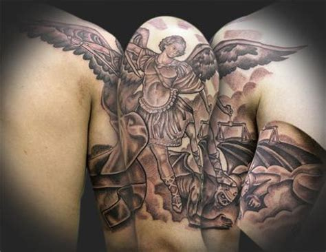saint michael tattoo designs st michael ideas ideas pictures