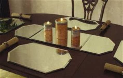 beveled mirror table runner mirror displays 3 table runner beveled edge