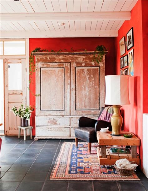 rustic orange living room live here eat that home in sweden this this