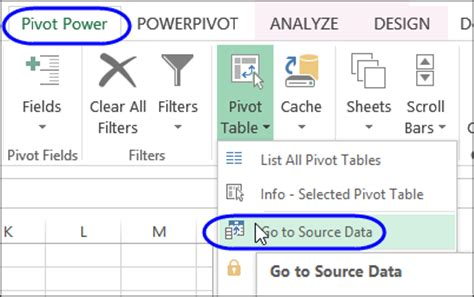Find The Source Data For Your Pivot Table Excel Pivot Pivot Table Change Data Source