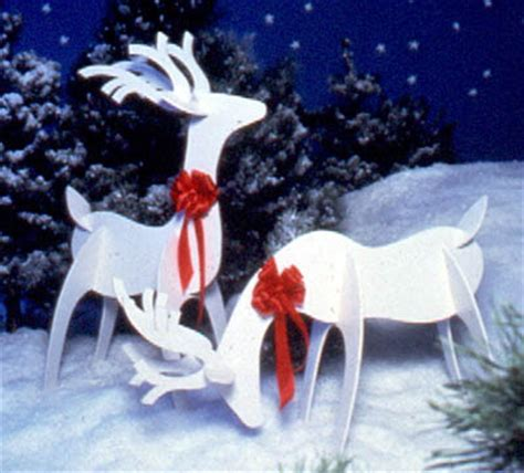 Cut Out Yard Decorations - woodworking pattern 2 reindeer yard decorations books