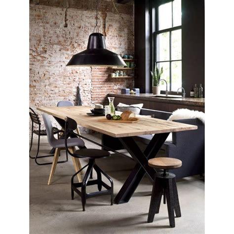 mesas de comedor estilo industrial mesa comedor loft estilo industrial viga madera roble