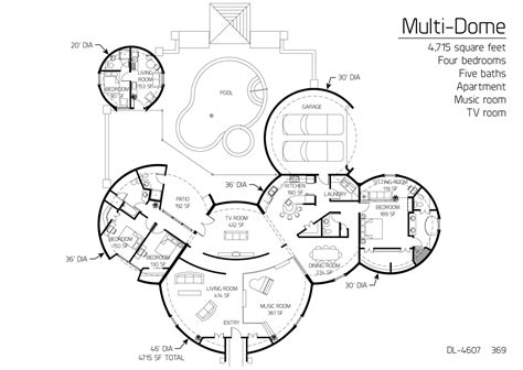 floor plans for round homes floor plan dl 4607 monolithic dome institute