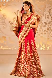 Indian bridal wear saree collection for wedding 2017 5