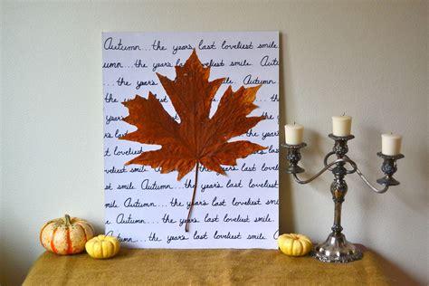 fall wall decor autumn leaf wall