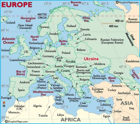map ukraine europe map of europe showing location of ukraine