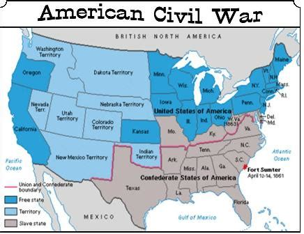 map of us during civil war pictures to pin on